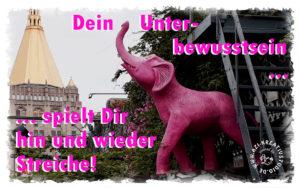Denke nicht an den rosa Elefant